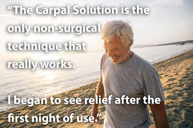 The Carpal Solution is the only non surgical technique that really works well