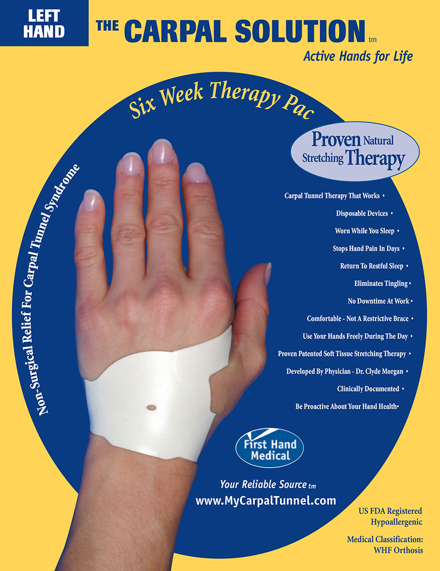 The Carpal Solution is an all natural Carpal Tunnel Therapy that has been used by over 81,000 people in over 30 countries