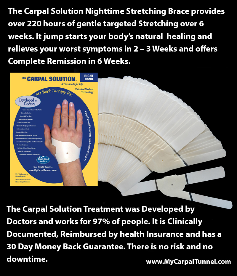 The Carpal Solution provides over 220 hours of gentle targeted stretching over six weeks