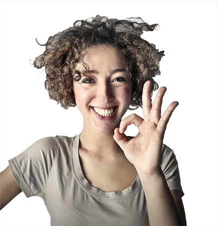 woman smiling after curing her carpal tunnel