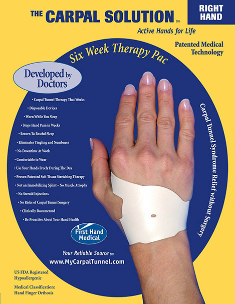 using the carpal solution over six weeks.