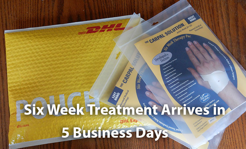 the six week carpal solution treatment arrives in five business days