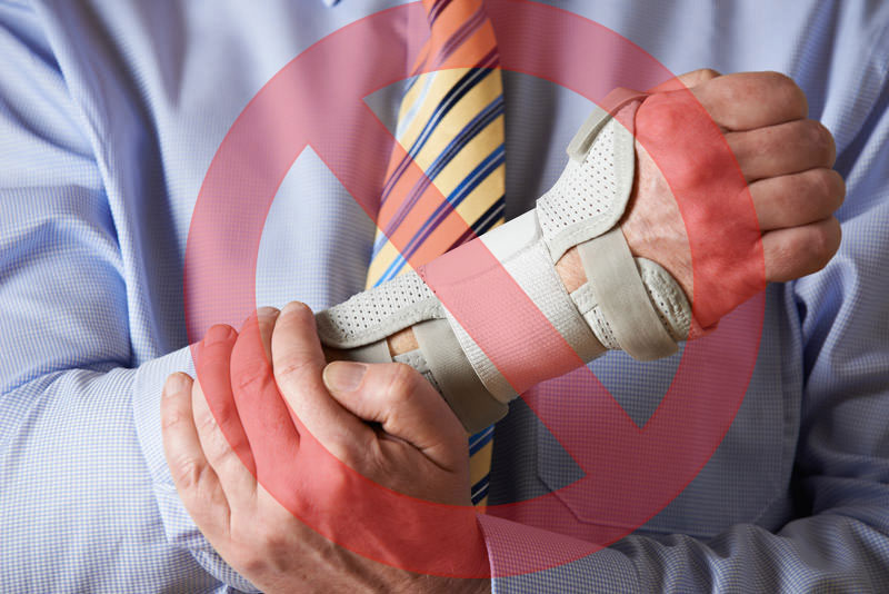 Rigid wrist splints and hand braces compress inflamed tissue further and should be avoided