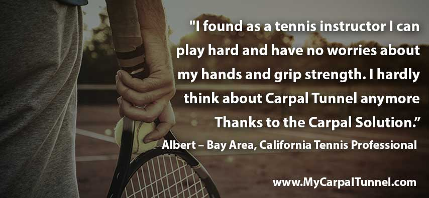 Tennis and Carpal Tunnel Syndrome Discover Treatment without Surgery