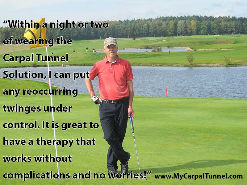 golfer cures carpal tunnel pain