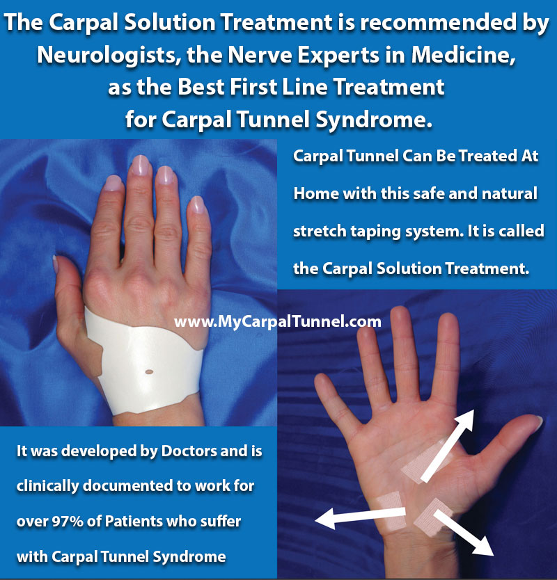 the carpal solution treatment is recommended by Neurologists, the nerve experts in medicine