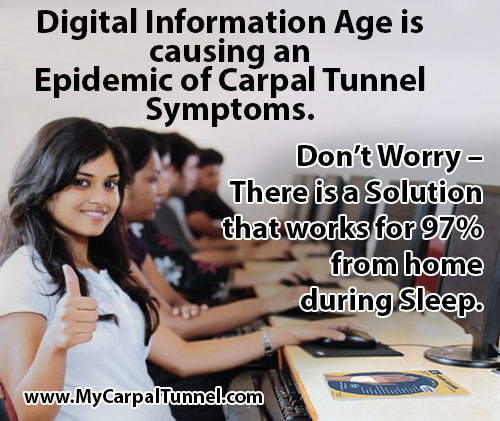 carpal tunnel syndrome due to computer use is on the rise