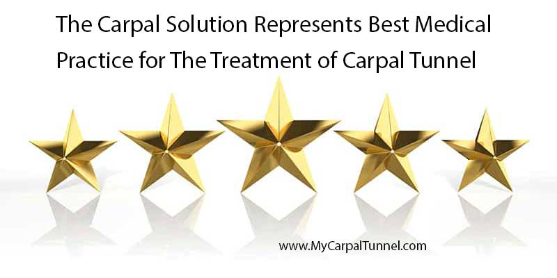 5 star rating for best practices in carpal tunnel medical treatment