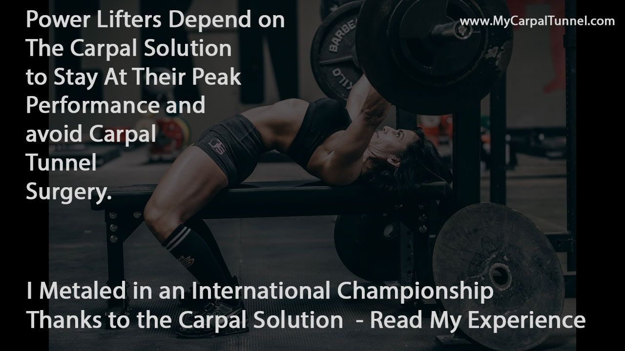 Power Lifters Depend on The Carpal Solution